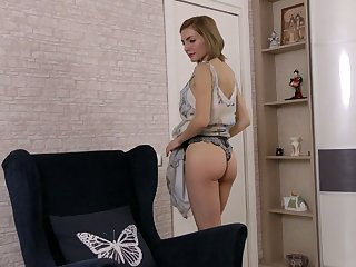 Ardent light haired Judith Angel is really ready for some fingering