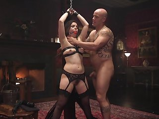 Rough snag a grasp at and BDSM be fitting of the slaved girl