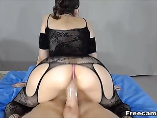 Babe Rides a Big Fat Cock