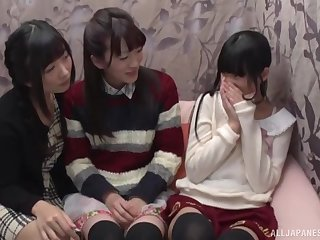 These Japanese college girls are relative to be useful to some sapphist fun