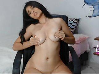Slim, dominate babe performs a fantastic unparalleled webcam scene