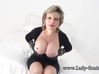 Lady Sonia wants you to wank while staring at say no to tits
