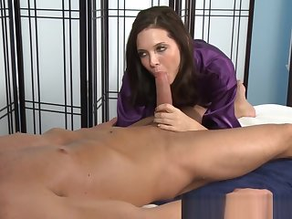 Masseuse sucks dong take 69 and gets licked