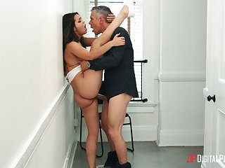 Ogle Alina Lopez as A she engages in an amatory standing dear one