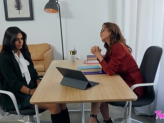 Great office hookup for hotties Alexis Fawx and Katya Rodriguez
