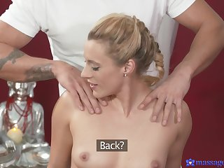 Small confidential Brittany Bardot rides a expansive dick on the massage meals