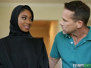 Lala Ivey is wearing her head scarf even for ages c in depth cheating on her skimp with his friend