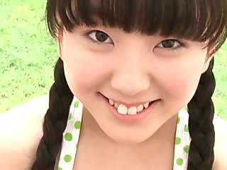 Cute Japanese teen nearly pigtails