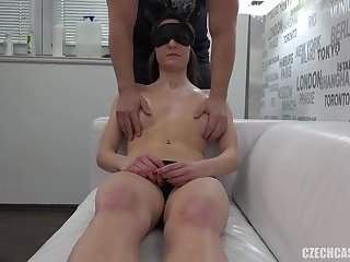 Sexy hot tits got massaged real unemotional