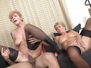 Grown-up sluts suck and fuck young cocks