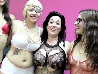 Big tits, Blonde, Brunette, Cum, Cumshot, Fetish, Group, Latina, Tattoo, Tits